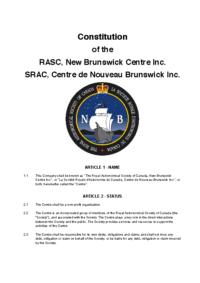 RASC NB Constitution